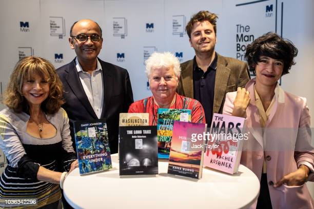 Member of the judging panel of the Man Booker Prize and writer and artist Leanne Shapton poses as the shortlist of six books are announced during a...