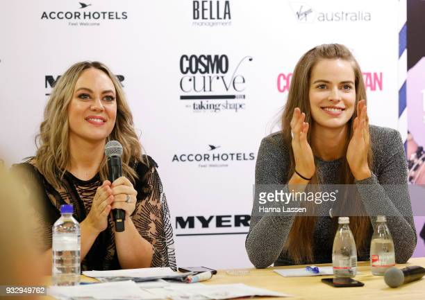 The judging panel Robyn Lawley and Keshnee Kemp at the Cosmo Curve casting on March 17 2018 in Sydney Australia