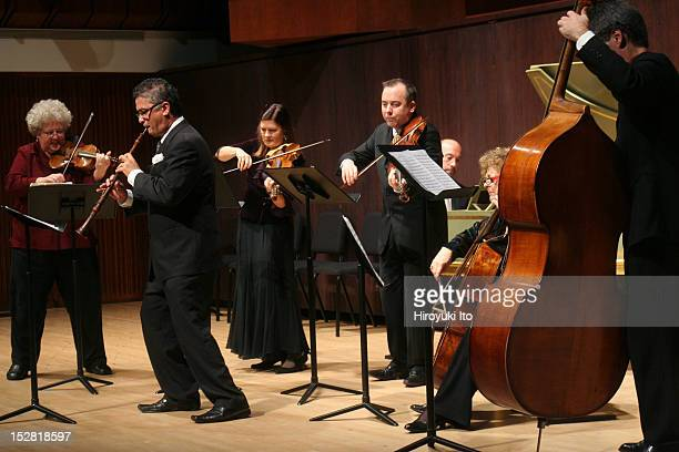 The Juilliard Baroque performing the music of JS Bach in its debut concert at the Paul Hall on Tuesday night October 27 2009This imageFrom left...