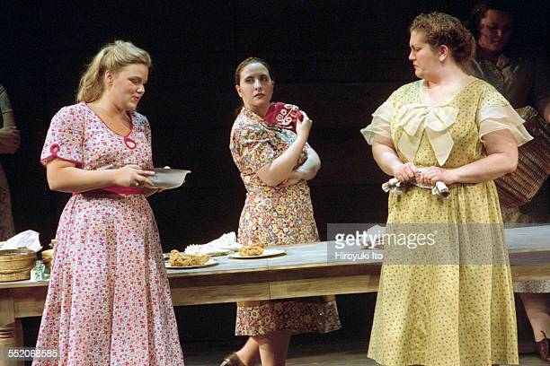 The Juilliard Opera Theater presents Carlisle Floyd's Susannah on Wednesday night November 14 2001This imageAngela Fout left and Christina Carr right