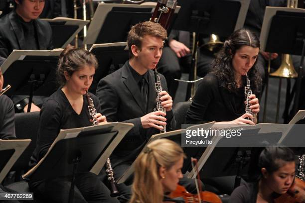 """The Juilliard Orchestra performing Alfred Schnittke's """"Symphony No. 8"""" at Peter Jay Sharp Theater on the closing night of Focus! 2014 Festival on..."""