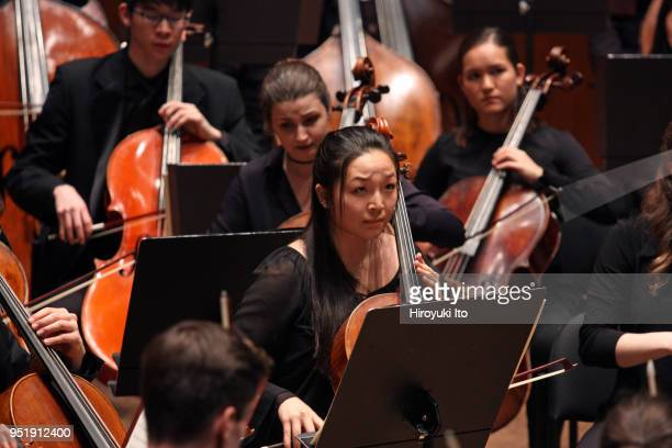 The Juilliard Orchestra performing Brahms's 'Symphony No 1' at David Geffen Hall on Monday night April 16 2018