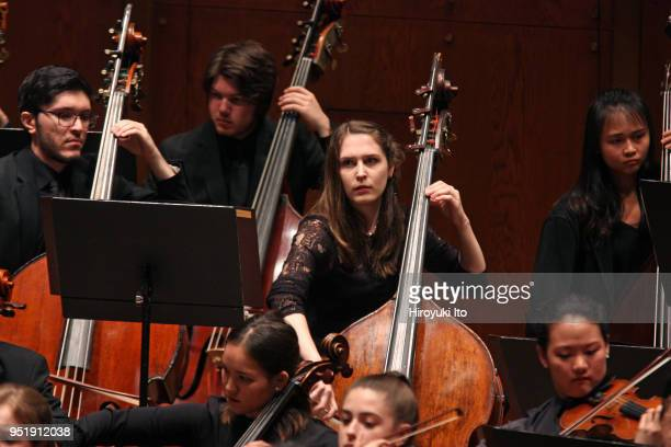 The Juilliard Orchestra performing Christopher Rouseu2019s Flute Concerto at David Geffen Hall on Monday night April 16 2018