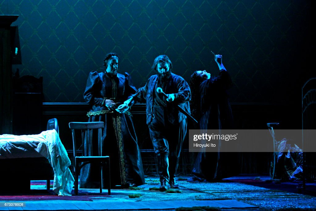 The Juilliard School presents Janacek's 'Katya Kabanova' at Peter Jay Sharp Theater on Wednesday night, April 19, 2017. It's directed by Stephen Wadsworth. This image: From left, Sara Couden, Alex Rosen and Felicia Moore.
