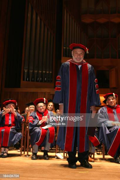 The Juilliard School's 101st Commencement Ceremony at Alice Tully Hall on Friday May 26 2006This imageMichael Kahn receiving an honorary degree