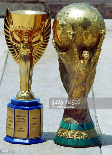 The Jules Rimet Cup won by Brazil during the world championship soccer games of 1958 1962 and 1970 and the FIFA Cup won during the 1994 and 2002...