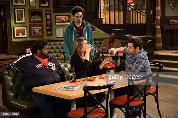 UNDATEABLE The Julius Effect Episode 107 Pictured Ron Funches as Shelly Rick Glassman as Burski Bianca Kajlich as Leslie David Fynn as Brett