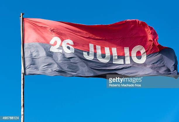 The July 26 Movement Flag flying against clear blue sky Cuban flag with 26 Julio written on it The July 26 Movement was a revolutionary organization...
