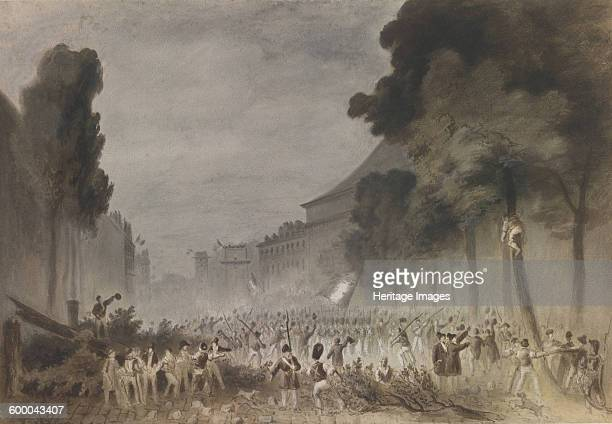 The July Revolution on the Grands Boulevards of Paris 1830 Private Collection Artist Bellangé Hippolyte