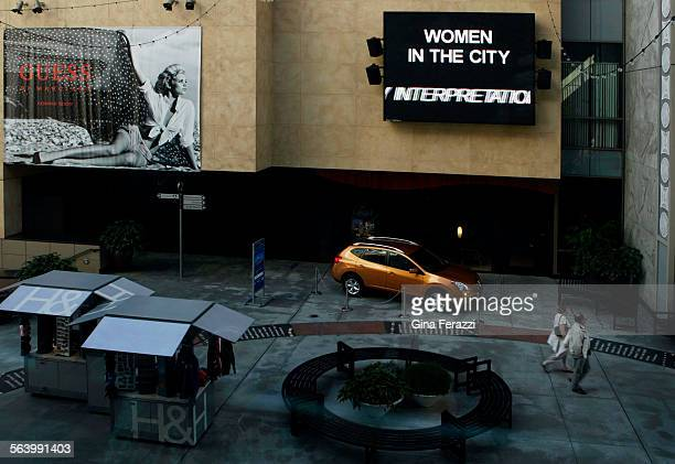 The jumbotron at the Hollywood and Highland Plaza is depicting Jenny Holzer's Truisms in Los Angeles Feb 6 2008 The art work is part of Women in the...