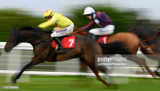 The Jumeirah Hotels And Resorts December Handicap Hurdle at Sandown Park Racecourse on December 07, 2019 in Esher, England.