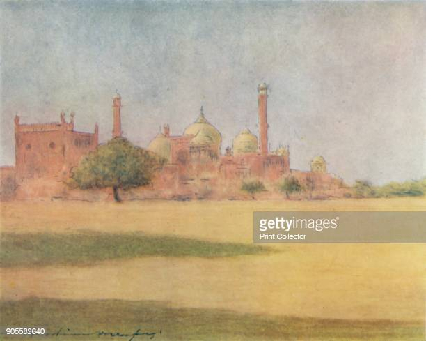 'The Jumna Masjid' 1905 From India by Mortimer Menpes Text by Flora A Steel [Adam Charles Black London 1905] Artist Mortimer Luddington Menpes