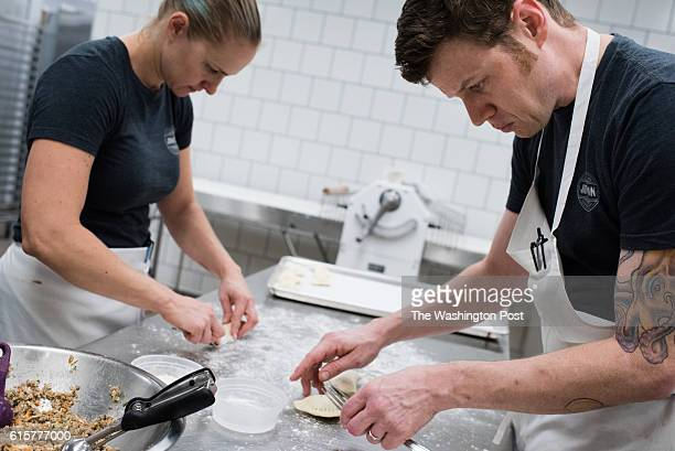 The Junction Bakery and Bistro in Alexandria Virginia is pictured for the $20 Diner feature on cheap eats Pastry chef Ashley Ott left and Nathan...