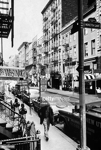 The junction of MacDougal Street and Minetta Lane in Greenwich Village New York City 2nd August 1963