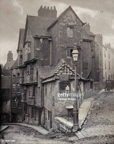 The junction of Steep Street and Trenchard Street Bristol 1866 This view was recorded five years before Steep Street curving away to the left was...