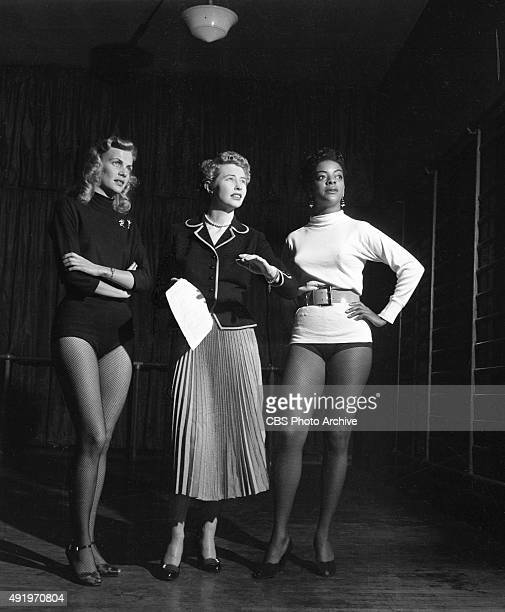 The June Taylor Dancers rehearse for The Jackie Gleason Show New York NY June Taylor is center in the black short coat and light skirt Image dated...