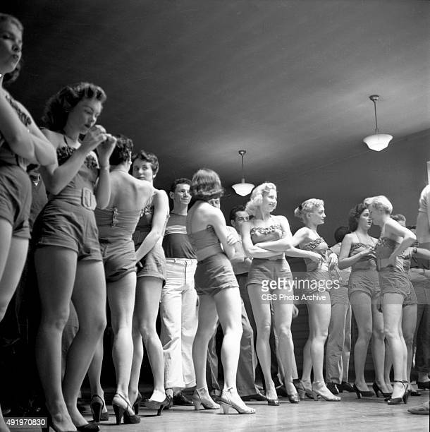 The June Taylor Dancers rehearse for The Jackie Gleason Show New York NY Image dated May 22 1953