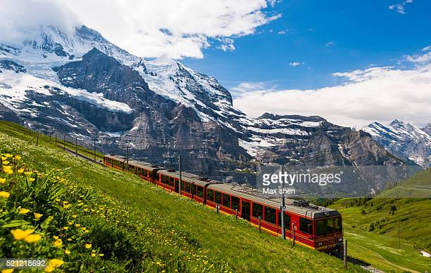 the jungfrau railway in switzerland - switzerland stock pictures, royalty-free photos & images