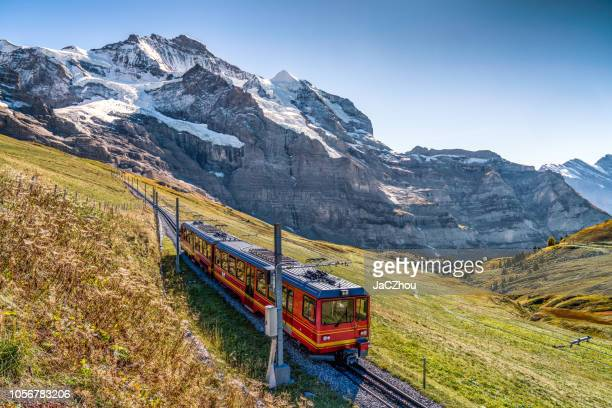 the jungfrau railway - switzerland stock pictures, royalty-free photos & images