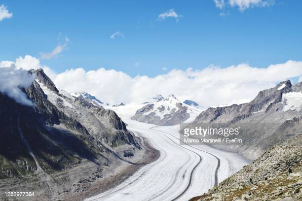 the jungfrau-aletsch is the largest glaciated area in western eurasia - martinelli stock pictures, royalty-free photos & images