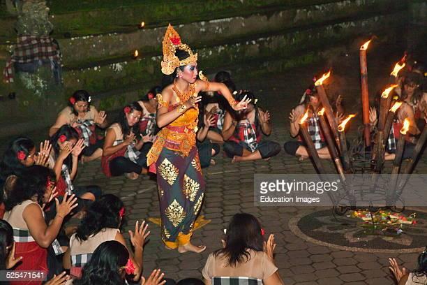 The Junungan Village, The Only Female Kecak Srikandhi, Ramayana Monkey Chant, Dance Troupes, Ubud, Bali.