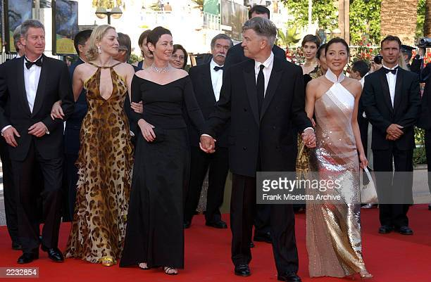 The Jury arriving for a screening of the new Woody Allen film Hollywood Ending the opening night film of the 55th Cannes Film Festival in Cannes...