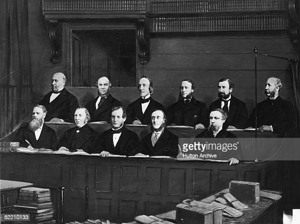 The jury at the trial of the Tichborne Claimant 1873 1874 Tichborne vs Lushington Butcher Arthur Orton also known as Thomas Castro claimed to be Lady...