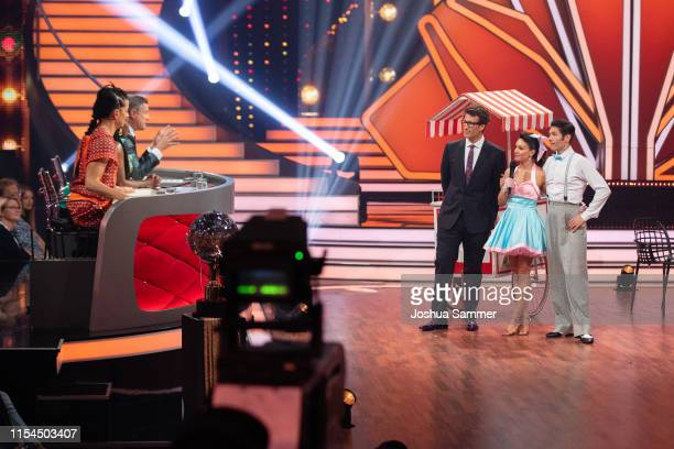 The Jury Daniel Hartwich Nazan Eckes and Christian Polanc during the 11th show of the 12th season of the television competition Let's Dance on June...