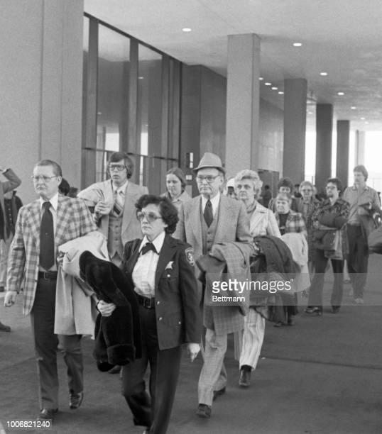 The jury is escorted to courtroom at the start of the trial for John Wayne Gacy charged with the sex slaying of 33 young men and boys
