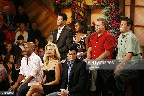 The Jury Marcellas Reynolds Janelle Pierzina Will Kirby James Rhine Danielle Reyes George Boswell and Howie Gordon appear onstage at Big Brother 7...