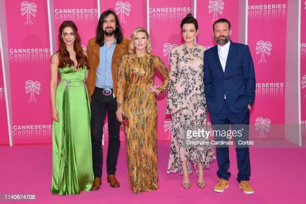 The Jury: Miriam Leone, Robin Coudert, Katheryn Winnick, Emma Mackey and Baran Bo Odar attend the 2nd Canneseries - International Series Festival :...