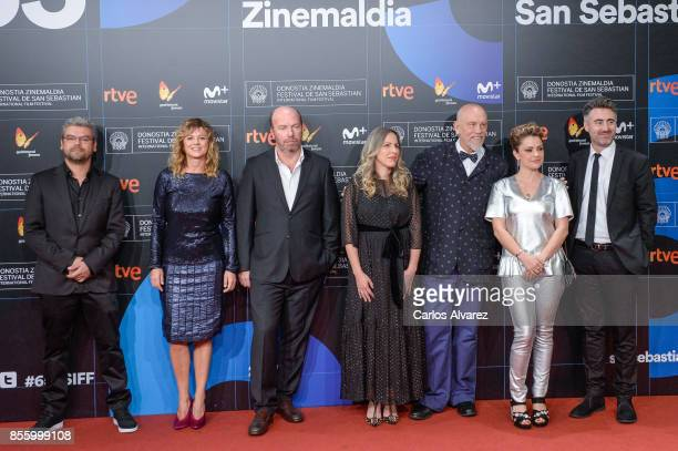 The jury of San Sebastian Film Festival attend the red carpet of the closure gala during 65th San Sebastian Film Festival at Kursaal on September 30...