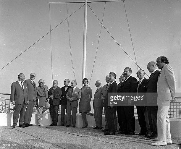 The jury of the Festival of Cannes around chairwoman Sophia Loren. Cannes, 1966. HA-1026-1.
