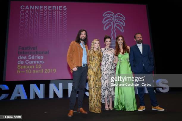 The Jury: Robin Coudert, Katheryn Winnick, Emma Mackey, Miriam Leone and Baran Bo Odar attend the 2nd Canneseries - International Series Festival :...
