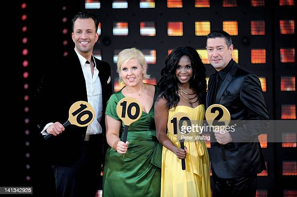 The jury Roman Frieling Maite Kelly Motsi Mabuse and Joachim Llambi during the 'Let's Dance' TV Show photocall on March 14 2012 in Cologne Germany