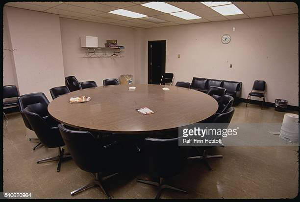 The jury room used in the Jeffrey Dahmer murder trial stands empty in Milwaukee Dahmer stood trial for murdering and dismembering 15 men and was...