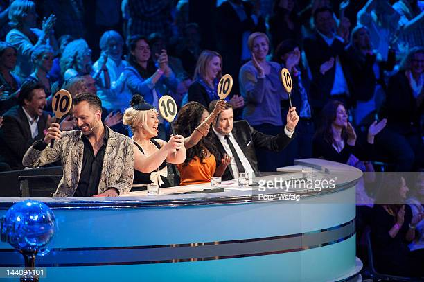 The jury shows a 40-points voting for Magdalena Brzeska and Erich Klann which is the highest possible rating during 'Let's Dance' 9th Show on May 09,...