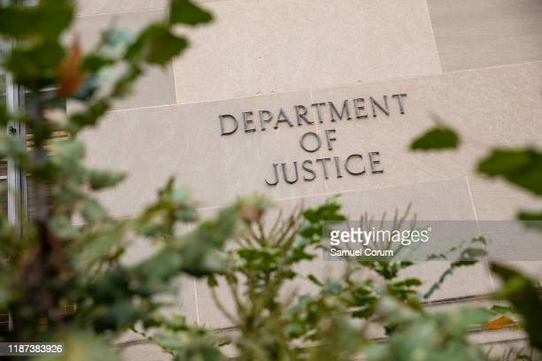 The Justice Department building on a foggy morning on December 9, 2019 in Washington, DC. It is expected that the Justice Department Inspector...