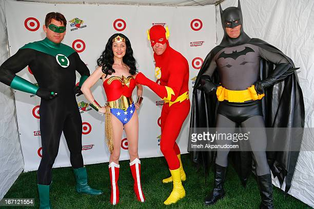The Justice League attends the 18th Annual LA Times Festival Of Books at USC on April 20 2013 in Los Angeles California