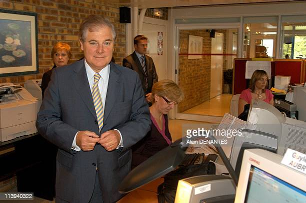 The Justice Minister Pascal Clement inaugurated the National Judicial File automated sex offenders in Nantes France On July 08 2005Pascal Clement...
