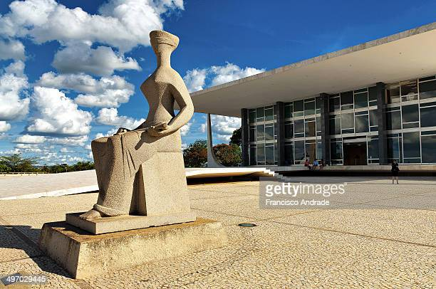The Justice sculpture located in front of the building of the Supreme Court in Brasilia. Was made in 1961 by artist Alfredo Ceschiatti miner.