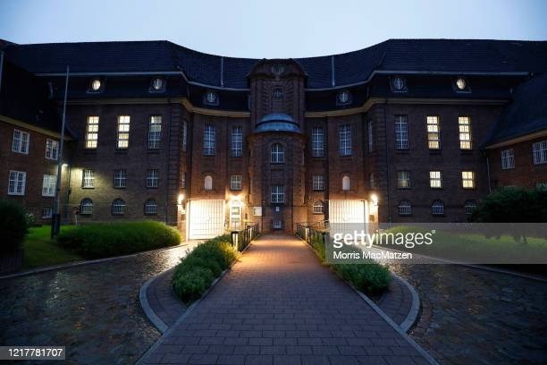 The JVA Kiel prison stands at twilight on June 5, 2020 in Kiel, Germany. German police have announced that Christian B., an inmate at the prison who...