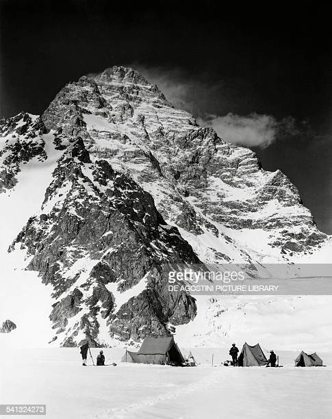 The K2 seen from Camp V on the Savoy Glacier expedition to the Karakoram by Luigi Amedeo of Savoy Duke of Abruzzi photograph taken by Vittorio Sella...