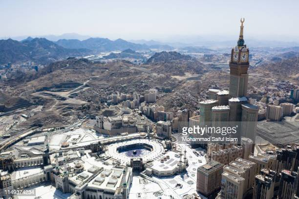 the kaaba also known as masjid ul haram, the holiest place on earth for the muslims - ムスリム同胞団 ストックフォトと画像