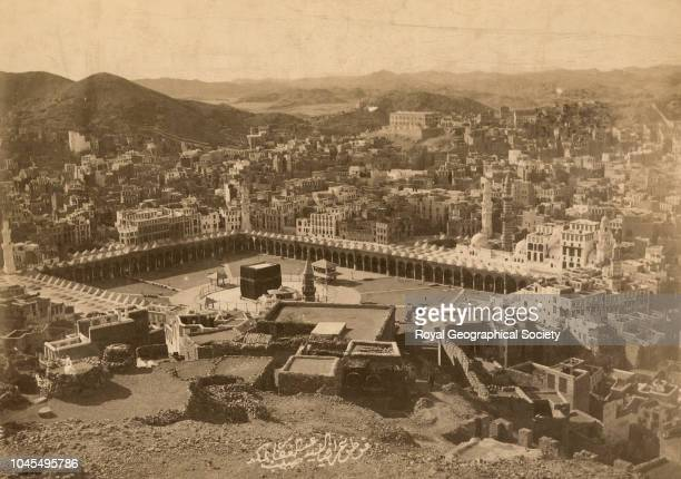 The Kaaba viewed from Mount Keyis Saudi Arabia
