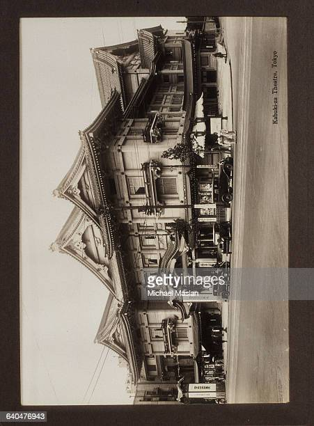 The Kabukiza Theater in Tokyo Japan one of the two main venues of Kabuki theater in Tokyo Ca 1920s