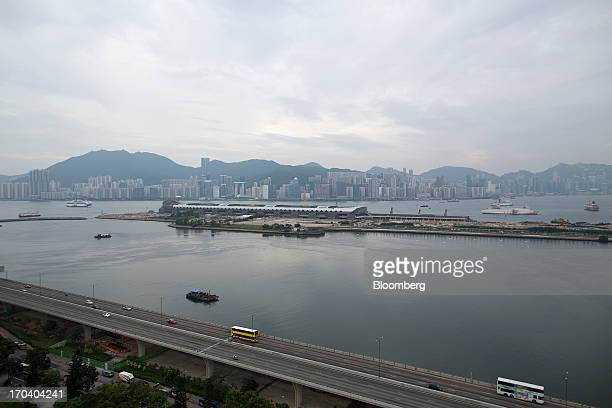 The Kai Tak Cruise Terminal center sits on the site of the city's former Kai Tak Airport in Hong Kong China on Wednesday June 12 2013 Hong Kong has...