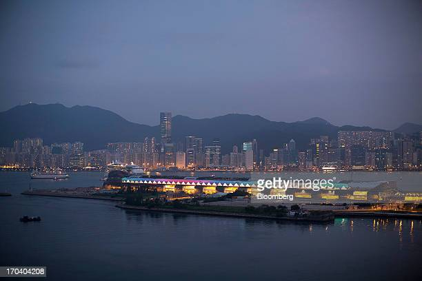 The Kai Tak Cruise Terminal front sits on the site of the city's former Kai Tak Airport in Hong Kong China on Wednesday June 12 2013 Hong Kong has...
