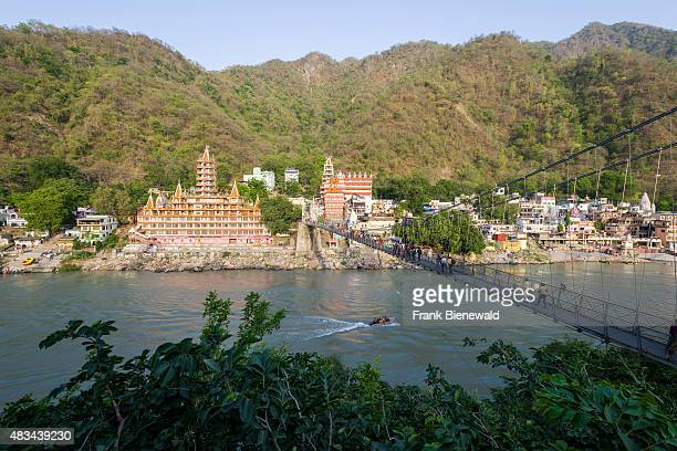 RISHIKESH UTTARAKHAND INDIA The Kailashanand Mission in Laksman Jhula is located at the banks of the holy river Ganges