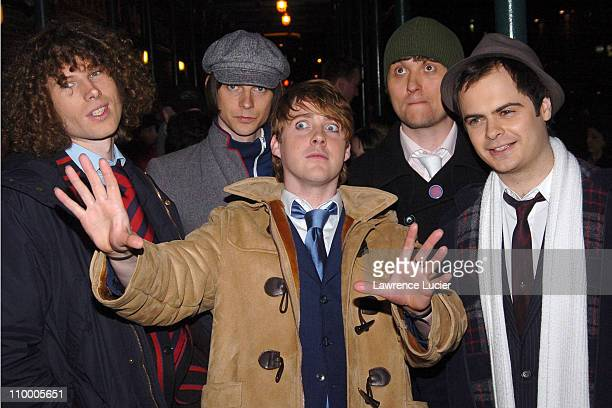 The Kaiser Chiefs of Leeds Simon Rix Nick Hodgson Ricky Wilson Andrew White and Nick Baines